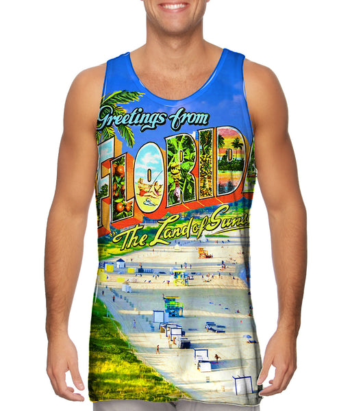 Greetings from Florida - The Land of Sunshine Mens Tank Top