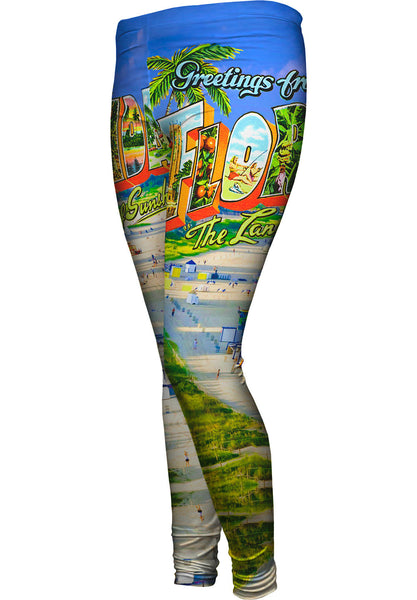 Greetings from Florida - The Land of Sunshine Womens Leggings