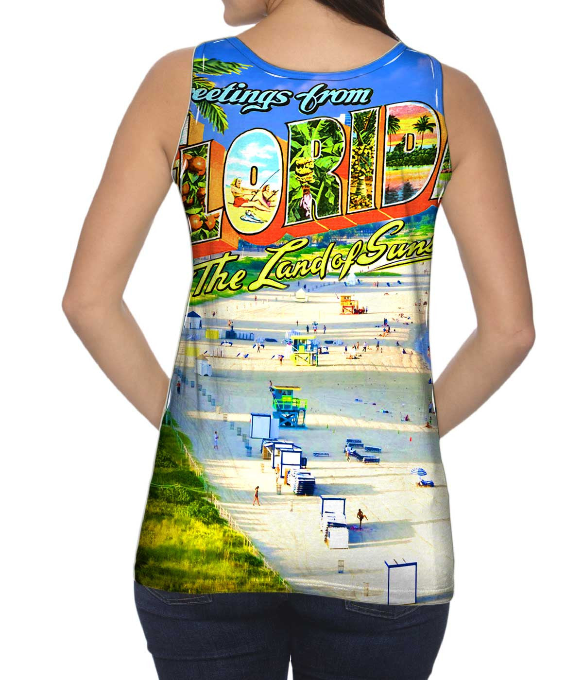 Greetings from Florida Yizzam Tshirt The Land of Sunshine Womens Tank Top