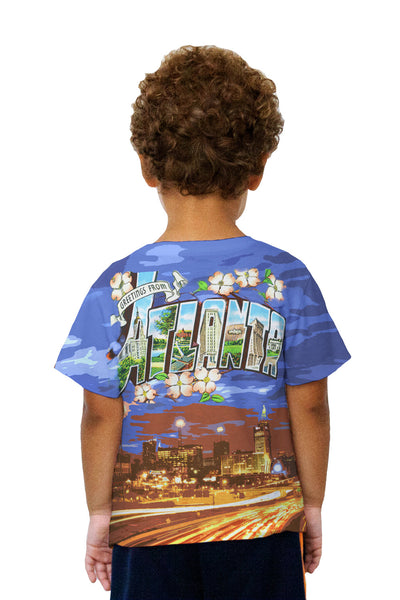 Kids Greetings from Atlanta Georgia 050 Kids T-Shirt