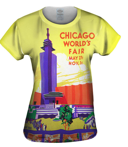 Chicago Worlds Fair Poster 054 Womens Top