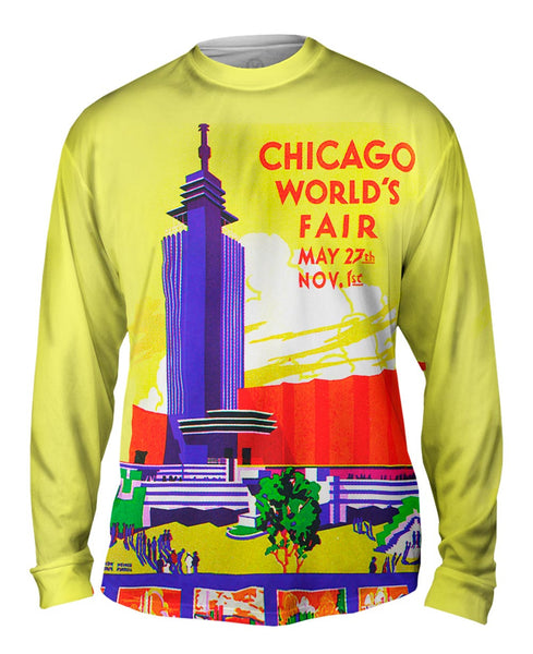 Chicago Worlds Fair Poster 054 Mens Long Sleeve
