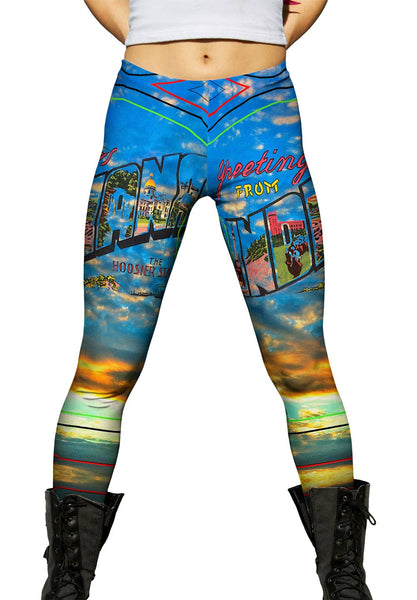 Greetings From Indiana 058 Womens Leggings