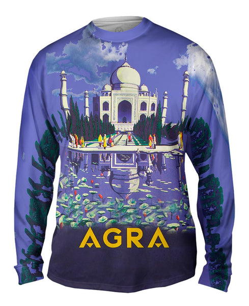 Agra Taj Mahal 045 Mens Long Sleeve