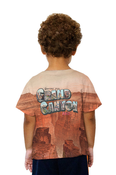 Kids Greetings From The Grand Canyon 063 Kids T-Shirt
