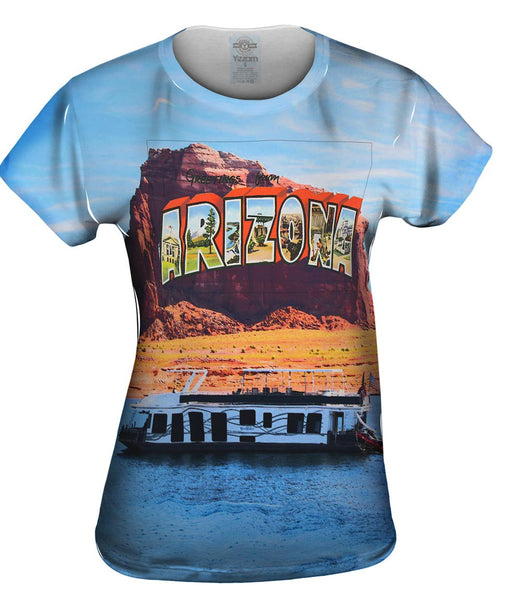 Greetings From Arizona 064 Womens Top