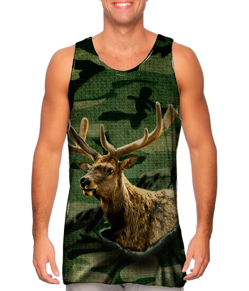 Torn Green Elk Mens Tank Top