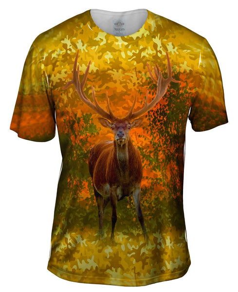 Camoflage Amarillo Deer Mens T-Shirt