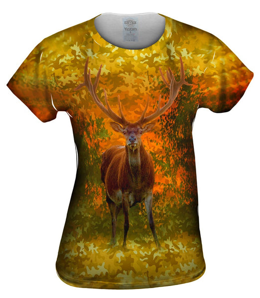 Camouflage Amarillo Deer Womens Top