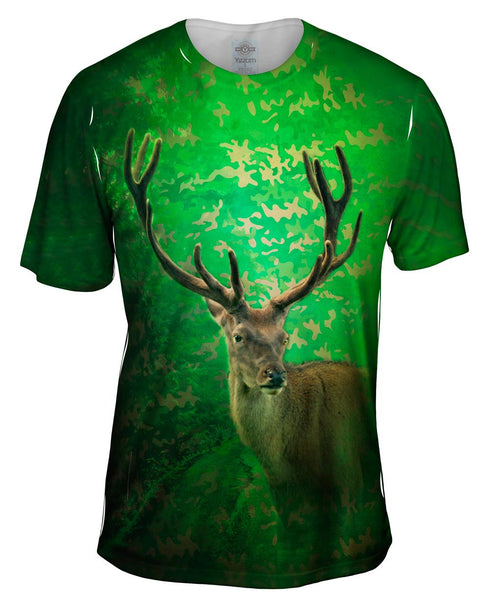 Camoflage Emerald Deer Mens T-Shirt