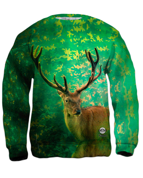 Camouflage Emerald Deer Mens Sweatshirt