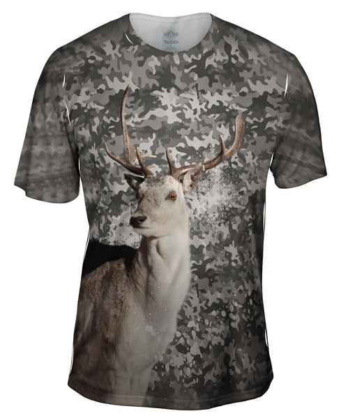 Camoflage Grey Deer Mens T-Shirt