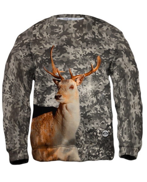 Camouflage Grey Deer Mens Sweatshirt