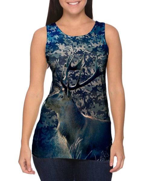 Camouflage Marine Deer Womens Tank Top