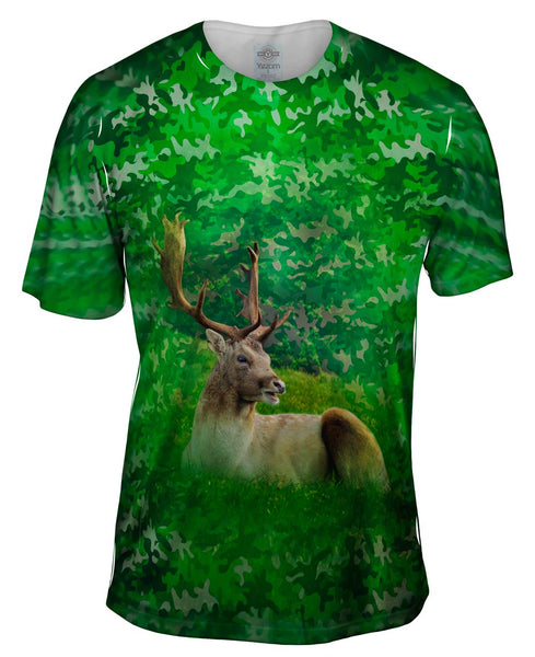 Camoflage Stag Deer Mens T-Shirt