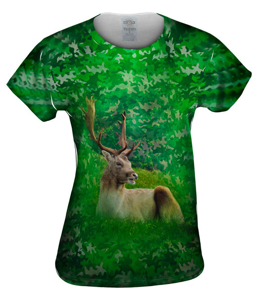 Camouflage Stag Deer Womens Top