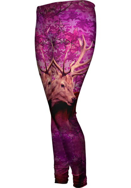 Camouflage Pink Deer Womens Leggings