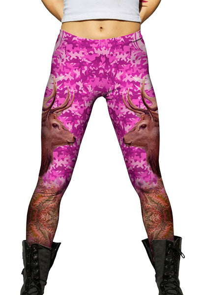Camouflage Rosa Deer Womens Leggings
