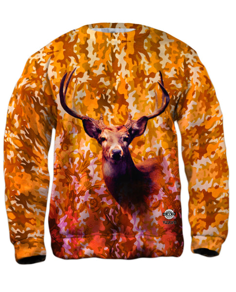 Camouflage Static Deer Mens Sweatshirt