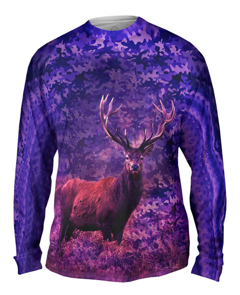 Camoflage Starlight Deer Mens Long Sleeve
