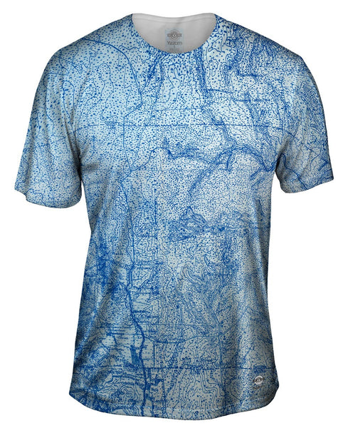 Topography Map Mens T-Shirt