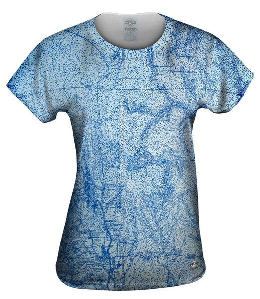 Topography Map Womens Top