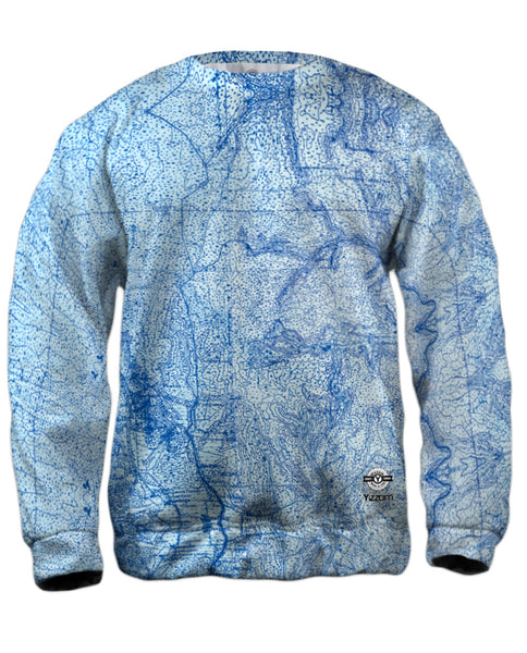Topography Map Mens Sweatshirt