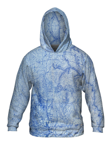 Topography Map Mens Hoodie Sweater
