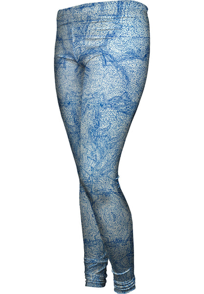 Topography Map Womens Leggings