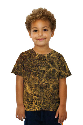 Kids Topography Map Gold
