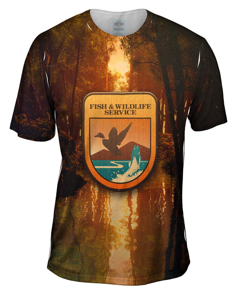 Wildlife Service Lake Mens T-Shirt
