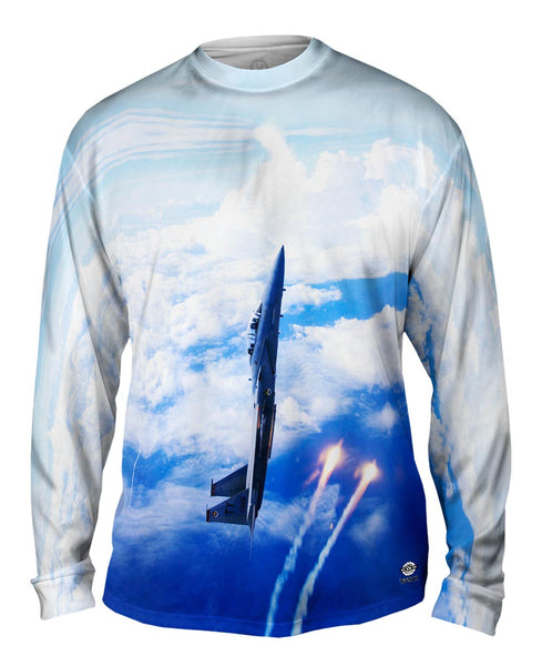Air Force F15 Vertical Deploy Mens Long Sleeve