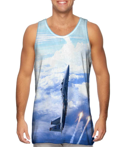 Air Force F15 Vertical Deploy Mens Tank Top