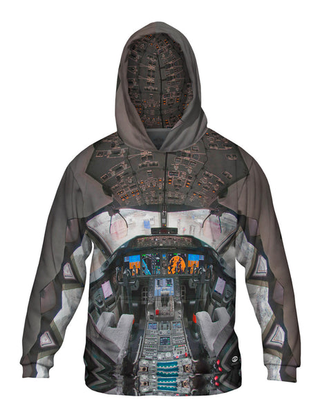 Boeing 787 8 N787Ba Cockpit Flight Deck Mens Hoodie Sweater