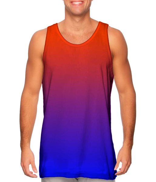 Orange Blue Mens Tank Top