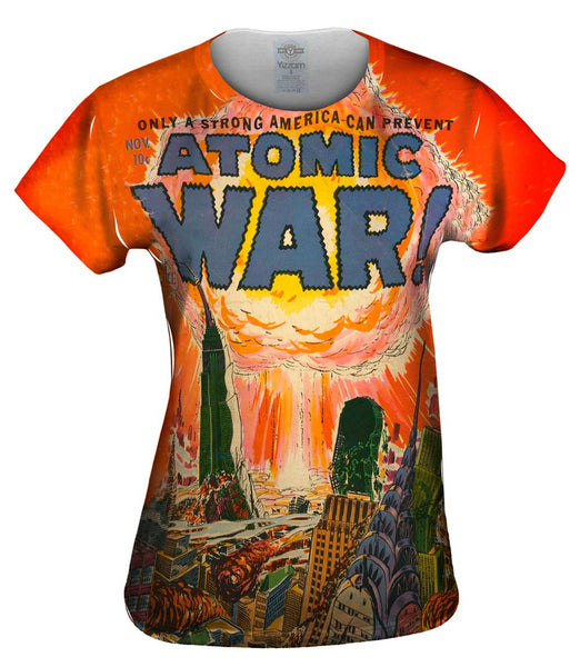 Atomic War Comic Retro Womens Top