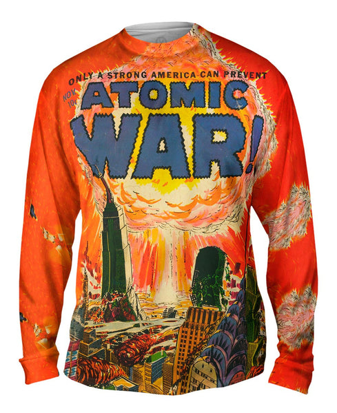 Atomic War Comic Retro Mens Long Sleeve