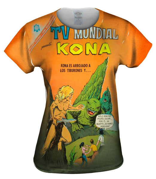Spanish Kona Comic Retro Womens Top