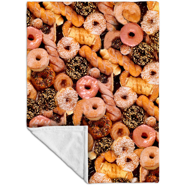Happy Donuts Fleece Blanket