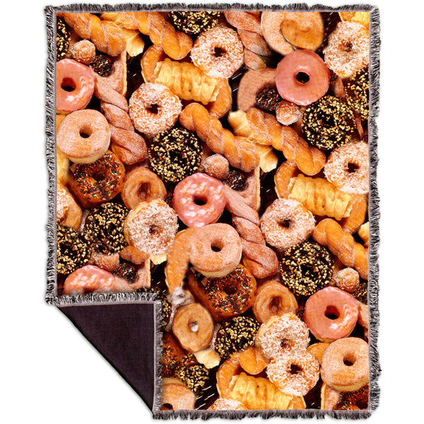 Happy Donuts Woven Tapestry Throw