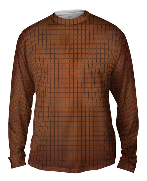 Chocolate Squares Mens Long Sleeve