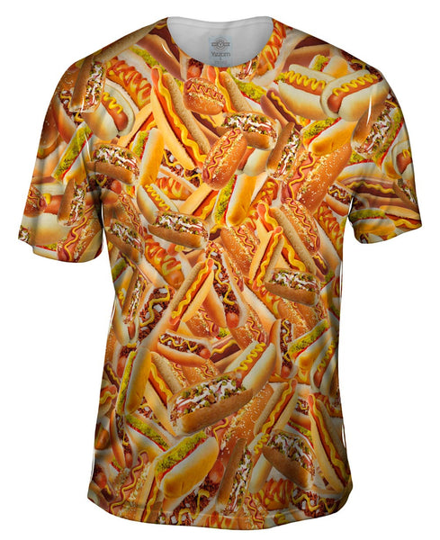 Hot Dog Shower Mens T-Shirt