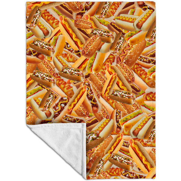 Hot Dog Shower Fleece Blanket