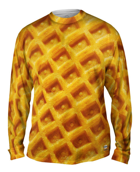 Waffle Breakfast Mens Long Sleeve
