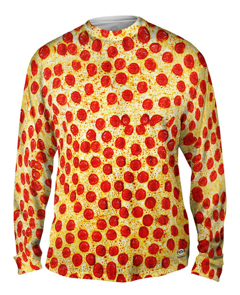 Pepperoni Pizza Mens Long Sleeve