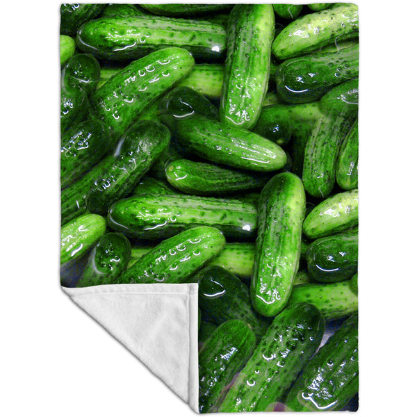 Kosher Dill Pickles Fleece Blanket