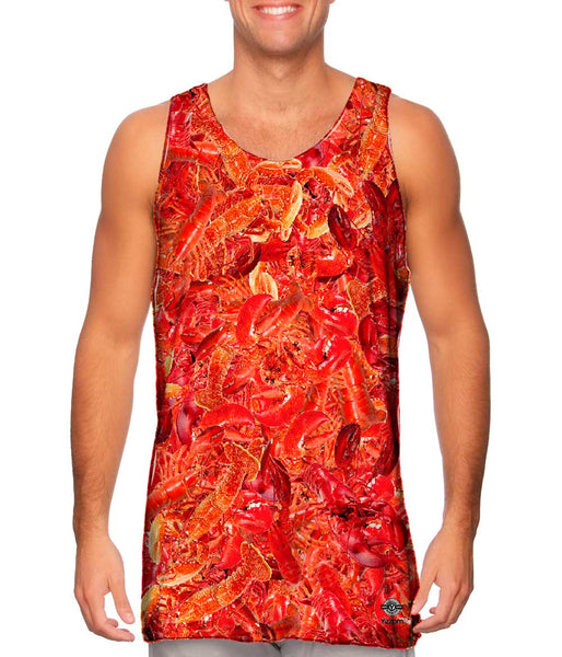 Maine Lobster Feast Jumbo Mens Tank Top
