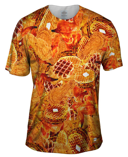 Southern Chicken And Waffles Mens T-Shirt