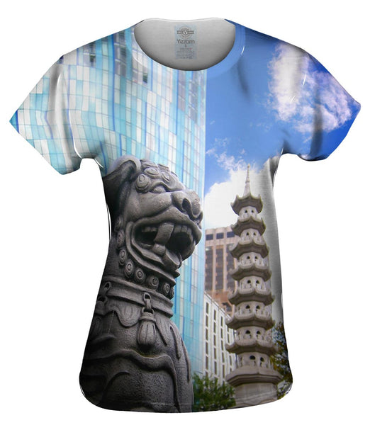 Guardian Dog Chinese Quarter Womens Top