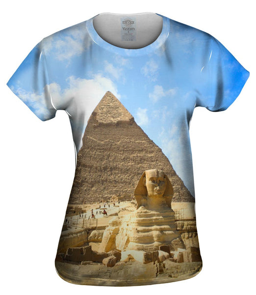Sphinx And Pyramid Egypt Womens Top